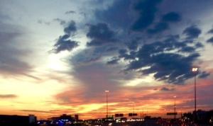 Houston commute sunrise